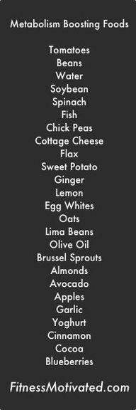 metabolism booster foods